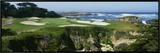 High Angle View of a Golf Course, Cypress Point Golf Course, Pebble Beach, California, USA Framed Canvas Print by  Panoramic Images