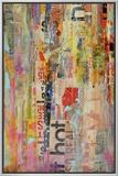 Metro Mix I Framed Canvas Print by Erin Ashley