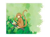 One Little Monkey - Turtle Giclee Print by Kathryn Mitter