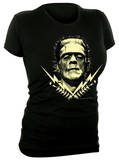 Juniors: Universal Monsters - Glow in the Dark Frank Bolts T-Shirt