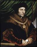 Sir Thomas More Framed Canvas Print by Hans Holbein the Younger