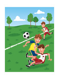 The Winning Goal - Jack & Jill Giclee Print by Eric Sturdevant