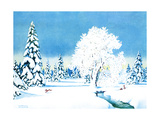 Winter Wonderland - Jack & Jill Giclee Print by Florence McCurdy