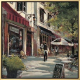 Boulevard Cafe Framed Canvas Print by Brent Heighton