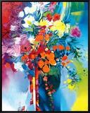 Bouquet en Mouvement Framed Canvas Print by Max Laigneau