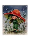 Mushroom Shelter - Jack & Jill Giclee Print by Ruth Bendel