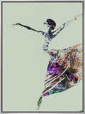 Ballerina Watercolor 3 Framed Canvas Print by  NaxArt