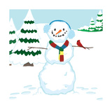 Snowman Mix-Up - Turtle Impression giclée par Dawn Au