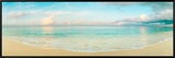 Waves on the Beach, Seven Mile Beach, Grand Cayman, Cayman Islands Framed Canvas Print by  Panoramic Images