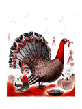 Mr. Turkey - Child Life Giclee Print by Elsie Fowler