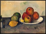 Still Life with Apples, C.1890 Framed Canvas Print by Paul Cézanne