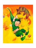 Elf Parachute - Jack & Jill Giclee Print by Ruth Bendel