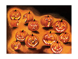 Pumpkin Smiles - Jack & Jill Giclee Print by Rachel Owings