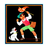 Cheering for the Team - Child Life Giclee Print by Clarence Biers