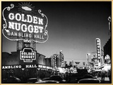 The Golden Nugget Gambling Hall Lighting Up Like a Candle Framed Canvas Print by J. R. Eyerman
