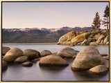 Granite Rocks, Sand Harbor State Park, Lake Tahoe, Nevada, USA Framed Canvas Print by Patrick Smith