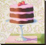 Chocolate Strawberry Torte Stretched Canvas Print by Patricia Doherty