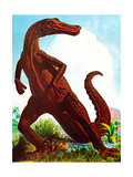 Dinosaurs - Jack & Jill Giclee Print by Edward F. Cortese