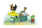 Ted, Ed, and Caroll are Great Friends - Turtle Giclee Print by Valeri Gorbachev