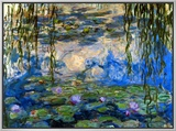 Waterlilies, 1916-1919 Framed Canvas Print by Claude Monet