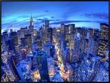 Chrysler Building and Midtown Manhattan Skyline, New York City, USA Framed Canvas Print by Jon Arnold
