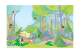 Forest Friends - Humpty Dumpty Giclee Print