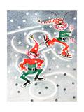 Elf Skates - Jack & Jill Giclee Print by Beth Henninger Krush