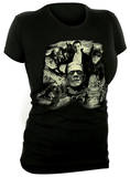 Juniors: Universal Monsters - Glow in the Dark Monster Collage T-shirts
