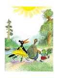 Ted, Ed and Caroll are Great Friends - Turtle Giclee Print by Valeri Gorbachev