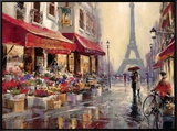 April in Paris Framed Canvas Print by Brent Heighton