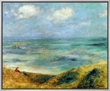 Seashore at Guernsey, 1883 Framed Canvas Print by Pierre-Auguste Renoir