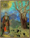 The Buddha, 1906-1907 Framed Canvas Print by Odilon Redon