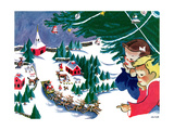 Waiting for Santa - Jack & Jill Giclee Print by Julia Nordell