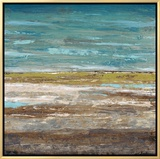abstract sea 2 framed canvas print by dennis dascher