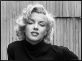 Actress Marilyn Monroe at Home Framed Canvas Print by Alfred Eisenstaedt