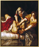 Judith and Holofernes, Around 1620 Framed Canvas Print by Artemisia Gentileschi