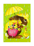 Rainy Easter - Playmate Giclee Print by Art Wallower