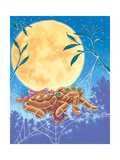 The Teeny Sleepy Spider - Turtle Giclee Print by Catherine G. Bratton
