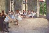 Edgar Germain Hilaire Degas (Ballet rehearsal) Poster Prints by Edgar Degas