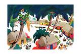 Island Village - Jack & Jill Giclee Print by Katherine Millhous