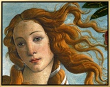 The Birth of Venus (Head of Venus), 1486 Framed Canvas Print by Sandro Botticelli