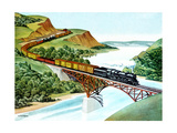 Bridge Crossing - Jack & Jill Giclee Print by Wilmer H. Wickham