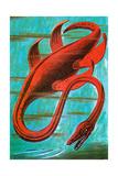 Dinosaurs - Jack & Jill Giclee Print by Edward F. Cortese