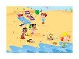 Rainbow Beach - Turtle Giclee Print by Rob McClurkan