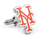 Silver New York Mets Cufflinks Novelty