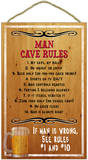 Man Cave Rules Wood Sign Wood Sign