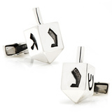 Sterling Dreidel Cufflinks Novelty