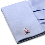 Prostate Awareness Ribbon Cufflinks Novelty