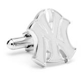 Silver New York Yankees Logo Cufflinks Novelty