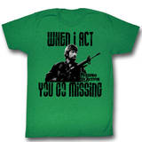 "Missing In Action - Chuck ""Crazy Eyes"" Norris Shirts"